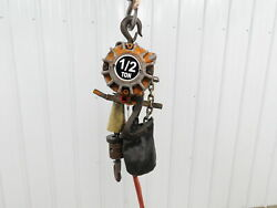 Ingersoll Rand ML500K 1 2 Ton 1000LB Air Pneumatic Chain Hoist 10#x27;2quot;Lift Pendent $1244.99