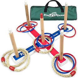 Elite Outdoor Games For Kids Ring Toss Yard Games for Adults and Family. Easy $23.27