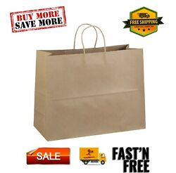 Brown Kraft Paper Bags 16quot;x6quot;x12quot; 100ct solid twisted paper handles $49.47