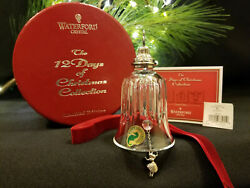 Waterford Crystal 12 Days of Christmas 9 Ladies Dancing Bell Ornament MIB Mint $350.00