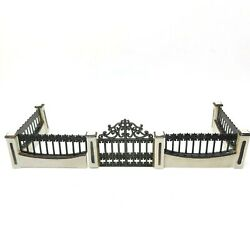 Lemax Dickensvale Collectibles Iron Gate amp; Wall Set Of 5 1995 VTG In Box $9.74