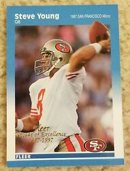 1987 1997 Fleer Decade Of Excellence Steve Young #12 of 12 49ers $4.99