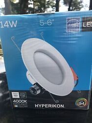 Hyperikon 5 6quot; LED Recessed Lighting 14W Dimmable Downlight 16 Pack 4000K NEW