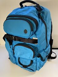 RARE LULULEMON Laptop Backpack Blue Large With Sunglasses Pouch. Travel Bag $79.00