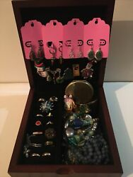 Jewelry Vintage Modern Lot With Jewelry Box ALL GOOD Wearable RESELL Free Ship $45.00