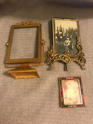 2 Small Antique Victorian Picture Frames 1 Micro Mosiac Italy Frame 3 TOTAL $50.00