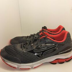 Mizuno WAVE INSPIRE 12 Mens Gray Red Black Running Training Shoes Size 15 $32.98