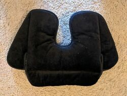 Graco Evenflo Chico Infant Car Seat BOTTOM PAD SUPPORT Crotch Part Black Velour $4.99