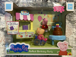 Peppa Pig Perfect Birthday Party Playtime Set w Mandy Mouse Wheelchair Present $15.99
