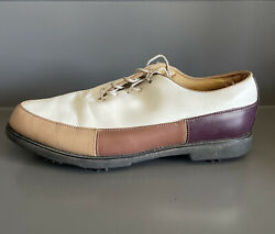 FOOTJOY Womens Golf Shoes Europa Collection White Tan Brown Leather 99224 11 M $27.99