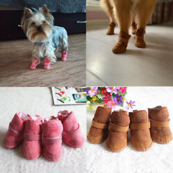 4Pc Pet Dogs Winter Shoes Rain Snow Waterproof Booties Socks Shoes For Puppy Cat C $6.11