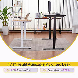 47quot; Motorized Computer Gaming Desk for Sitting and Standing with USB Ports White $271.99