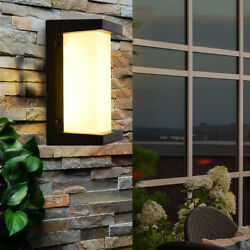 Led Outdoor Wall Lamps Waterproof Aluminum Wall Lights Porch Wall Sconce 18W $29.01