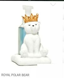 Bath amp; Body Works SOAP holder Crown GLITTER POLAR BEAR and hanging candle bear $49.99