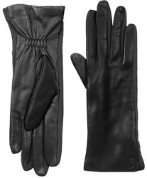 UR Powered Lg Black Leather Driving Gloves Thinsulate Touchscreen Compatible $25.00