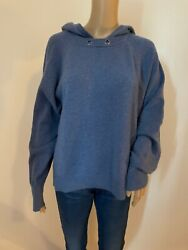 NORDSTROM SIGNATURE 100% cashmere hooded sweater $65.00