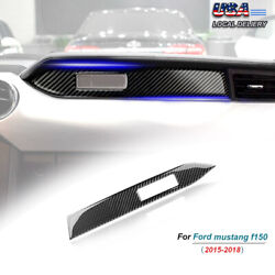 Carbon Fiber Interior Dashboard Panel Cover Trim Fit For Ford Mustang 2015 2019 $11.61