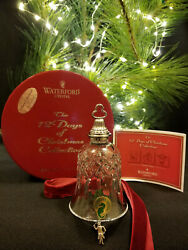 Waterford Crystal 12 Days of Christmas 12 Drummers Drumming Bell Ornament Mint $495.00