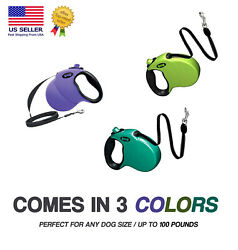 Best Retractable Dog Leash 16 Ft Training Walking Lead for Dogs 3 COLORS $9.99