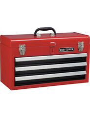 ❇️CRAFTSMAN Portable Tool Box 20.5 in Ball bearing 3 Drawer Red SteelLockable $57.99