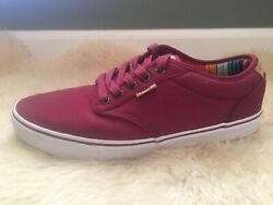 Vans Size 12 Mens Burgundy Lo Skate shoes $27.99