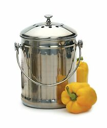 RSVP International Endurance PAIL Stainless Steel Compost Pail with Charcoa... $51.04
