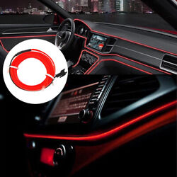 2M LED Red Car Interior Decorative Atmosphere Wire Strip Light Lamp Accessories $7.16