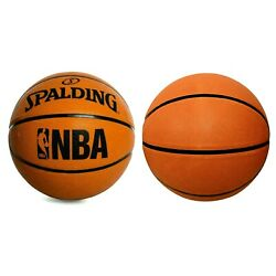 NBA Spalding Basketball Regulation Size 29.5 in. Rubber With Pump Included NEW $10.75