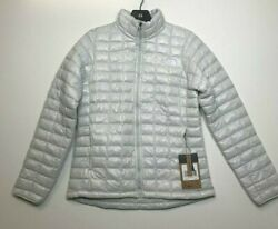 The North Face Women#x27;s Eco Thermoball Slim Fit Jacket Tin Gray NF0A3Y3Q9B8 NWT $60.99