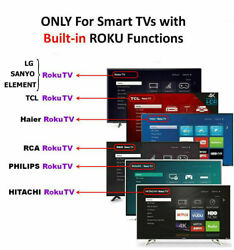New Replaced Remote FIT For ROKU TV TCL Sanyo Element Haier RCA LG Philips $5.85