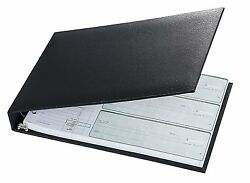 7 Ring 3 on a Page Business Check Book Binder Black *NEW $14.95