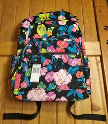 NWT Vera Bradley Essential Large Quilted Backpack Hilo Meadow MSRP $135 $59.78