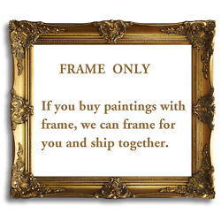 Gold Black Ornate Antique Oil Painting Wood Picture Frame 20x24 $99.99