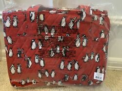 Vera Bradley Hanging Organizer in Playful Penguins RED #15829 J09 NWT FREE ship $22.85