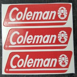 THREE 3 NEW COLEMAN REPLACEMENT STICKER LABEL DECAL LANTERN STOVE 1980s TO NOW $4.77