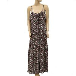 Forever 21 Floral Maxi Dress Ruffle Boho Evening Cocktail Printed S New 181548 $32.99