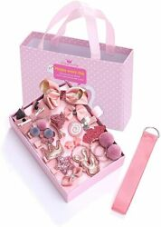 Girl#x27;s Hair Clips Cute Hair Bows Elastic Ties Hair Accessories Set Gift Box $7.85