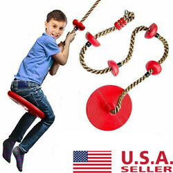 Rope Swing with Disc Seat Rope Ladder for Kids Outdoor Tree Backyard Playground $21.99