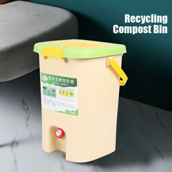 21L Kitchen Compost Collector Bucket Container Waste Trash Bin Flip Top Lid USA $62.01