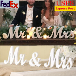 Mr and Mrs Wedding Wooden Sign Wood Letter Decor Party Decoration Table Standing $5.98