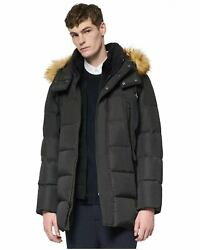 Marc New York by Andrew Marc Mens Conway Down Hooded Parka Large Black $125.00