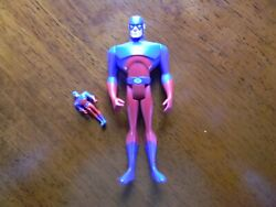 2004 Mattel Justice League Unlimited The Atom with mini atom Figure New complete $12.99
