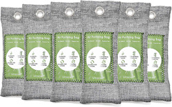 Air Purifying Bag Purifier Nature Fresh Charcoal Bamboo Mold Freshener 6 Pack 🔥 $10.48