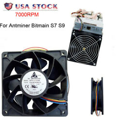 7500RPM Cooling Fan Replacement 4 pin Connector For Antminer Bitmain S7 S9 $17.30