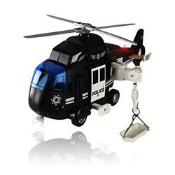 Police Helicopter Toy with Flashing Lights amp; Sounds Great Gift For Boys Girls $13.97