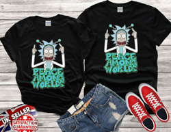 Rick And Morty Peace Among Worlds Vintage Gift For Men Women Funny Tee $12.30