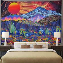 Extra Large Tapestry Vibrant Wall Hanging for Bedroom Trippy Huge Sun Celestial $39.99