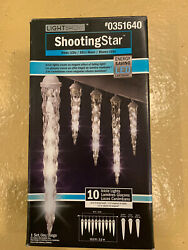 Gemmy 10 Count Shooting Star White Icicle LED Plug In Christmas Icicle Lights $59.95