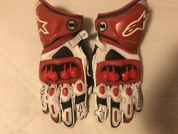 Alpinestars Gloves GP Pro leather Size Large Red White Black. GBP 110.00