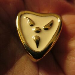 VTG GIVENCHY EARRINGS CLIP GOLD TONE SIGNED CREAM ENAMEL PAINT 80#x27;S $49.99